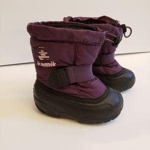 Kamik deep purple toddler unisex snow boots